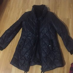 Armani Exchange long black puff jacket